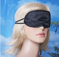 Wholesale 2015 High quality Eye Mask Shade Nap Cover Blindfold Travel Rest Skin Health Care Treatment Black Sleep AAAA quality