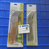 Wholesale 30oz oz Stainless Steel Straw Metal Drinking Straw Juice Straws Cleaning Brush Set Retail Packing Kit Fits Yeti Cups