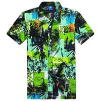hawaiian shirts - 2016 Hot Selling Summer Mens Hawaiian Shirt Designer Printing Short Sleeve Beach Shirt Men Casual Shirts