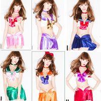 Wholesale Hot sale sleeveless Japan where sailor moon cosplay anime clothing Lapel navy sailors cheerleading performance games costume