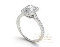 emerald cut diamonds - Delicate classic stylish popular brilliant emerald cut finger diamond rings wedding ring engagement ring bridal sets BER0349