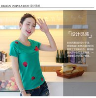 bertha collar - The new summer wear cotton Bertha in the Korean version of pure color round collar shirt big yards cultivate one s morality short sleev