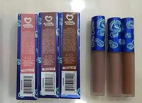 Wholesale Lime Crime Limited Edition Velvetines Trio Blue lipstick Liquid Matte Lip Opaque New Holiday Makeup Lip Gloss