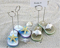 beach theme place cards - Beach Shoes Theme Starfish Or Fish Decoration Place Card Holder Party Supplies