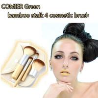 beautiful eyeshadow - Professional Makeup Brushes Set Kit Beautiful Bamboo Elaborate make up Eyeshadow Blush brush Tools With Case button bag Free DHL
