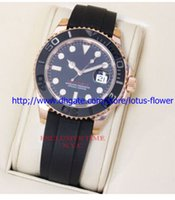 Cheap 2016 LUXURY WATCH rose gold Rubber Black Index bracelet Fashion 40mm Ceramic Bezel Mens Watch 116655 Sports Men Automatic Watches