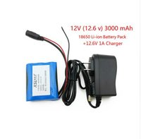 Wholesale 12 V mAh Li ion Rechargeable battery and V A Charger cctv camera free shopping
