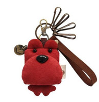 Wholesale Bear key chain three color patch key pendant Cute men and women car keys U disk deduction