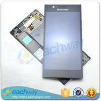 Cheap For Lenovo K900 LCD assembly LCD panel Display Touch Screen Digitizer Assembly K900 LCD complete With Frame Original Replacement Parts