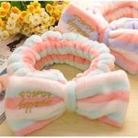 Wholesale Hair headwear lovely sweet hair headwear Flannel headband Bowknot is washing a face makeup hair band