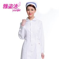 beauty dress pants - medical Doctor white long sleeved dress nurse short sleeved uniform experiment under drugstore beauty salon work pants cap