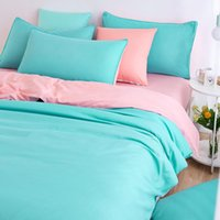 Wholesale New Style Minimalist Soft and Comfortable Bedding Sets Bed Sheet and Duver Quilt Cover Pillowcase King Queen Full Twin