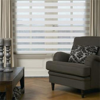 Wholesale Motorized zebra roller blinds light filter fabric custom made sizes in colors