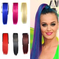 Wholesale DHL Fedex TNT Colorful Cos CM Steady Tight Tieback Straps Straight Horsetail Bind Type Horse hair Long Hair Fake Ponytail Extension