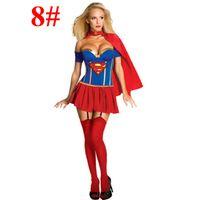 average clothing size - style adult lady halloween dress up women christmas cosplay clothes captain america superman batman averages girls costume dress