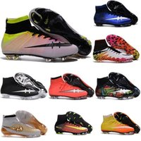 Wholesale 100 Original Mercurial Superfly CR7 FG AG Men s Magista Obra ACC Soccer Cleats Boots Hypervenom Kids Boys Girls Womens Football Shoes