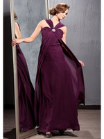 affordable maternity evening dresses - Runway Fashion Halter Chiffon Long Length Maternity Sash Maxi Evening Party Gowns Grape Affordable Price Newest Style