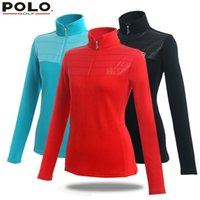 Wholesale POLO genuine new golf long sleeved cotton shirts women with collar polos autumn winter mujer femme uniform ladies golf clothing
