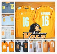 Wholesale Stitched LIMITED ELITE NCAA Tennessee Volunteers College Volts Manning COBBS Football Jersey Hot sale Cheap Sport