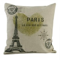 Wholesale 2015 new hot good quality vintage retro pattern cushion pillow pillowcase cover cotton blended