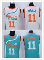 best flint - Hot sale Flint Tropics Semi Pro Movie Throwback Basketball Jersey Ed Monix Green White Best Stitched Quality