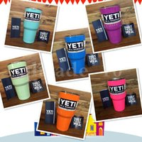 cup - YETI Rambler Tumbler Cups COLORS in stock For Travel Vehicle Tumblerful Bilayer Vacuum Insulated Stainless MUG with logo IN STOCK HHA1088