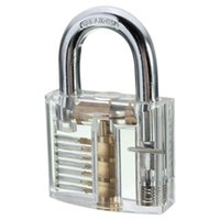 Wholesale Beautiful Design Modern Style Transparent Visible Pick Cutaway Mini Practice View Padlock Lock Training Skill For Locksmith