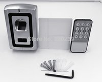 Wholesale Metal Case Waterproof Fingerprint Access Control With Proximity RFID Reader Can Store Fingers RFID Card F007 EM