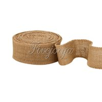 Wholesale 10m x cm natural burlap fabric ribbon countryside wedding lace belt linen strap craft wedding decoration and Christmas using roll