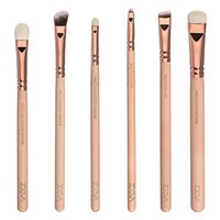 Wholesale Zoeva Pieces Rose Golden Complete Eye Set Eyeshadow Eyeliner Blending Pencil Makeup Brushes With Case