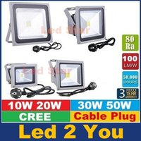 ac lighting uk - 10W W W W led floodlight RGB Outdoor Led Flood Light Garden Lamp V With EU AU US UK Plug