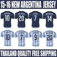Wholesale Top AAA Quality Argentina Jerseys MESSI DI MARIA Home Away Argentina Soccer Jersey Football Soccer uniform shirts