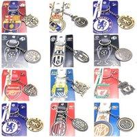 Wholesale New Football Club Key Chain Alloy Metal Key Rings For football fans Jewelry Key Holder Souvenir
