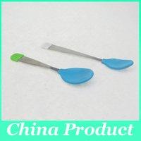 baby spoons lot - New Baby Spoon Fork Heat Sensing Thermal Feeding Spoon Baby Kids silicone spoon Utensils Tableware