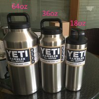 Wholesale Yeti Rambler Tumbler Sports Bottle oz oz oz Stainless Steel Mug Large Capacity For Ourtdoor Sports And Travel