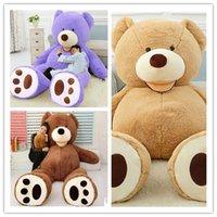 big brown eyes - American big Teddy plush Bear Skin factory price light Dark brown Purple pink white cm cm cm cm cm cm Round Squint eye