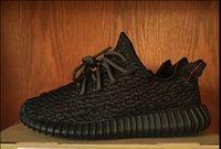 al por mayor impulso y3-Kanye West Y 350 zapatillas de deporte de alta calidad para mujeres y hombres de los zapatos corrientes Negro Y3 Boost 350 Breathables zapato zapatos para caminar