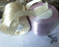 Wholesale 25 YardsBeige Purple quot MM Satin Ribbon For Diy Crafts Headband Bow Scrapbooks Wedding