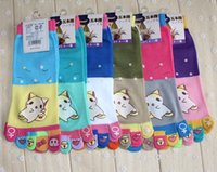 Wholesale Newly Colors Poke Pikachu Cartoon Socks New Girls Autumn Winter Cotton Socks Fashion Five Fingers Toes Socks