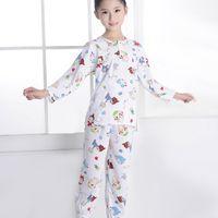 Wholesale New Arrival Children Pyjamas Kids Cartoon Printed Pyjama Boys Girls Long Sleeve Tops Pants Spring Autumn Toddler Pajamas Set VH0027
