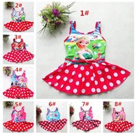 Wholesale 2016 Frozen Kids Swimwear One Piece Styles Frozen Girls One Pieces Swimsuits Princesses Swimming Clothes COLOR