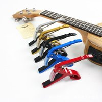 Wholesale 100pc High Quality Aluminium Alloy New Black Quick Change Clamp Key Acoustic Classic Guitar Capo For Tone Adjusting Z00240