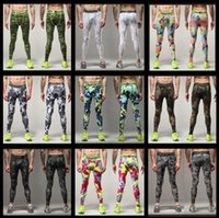 base layer pants - 2016 new Mens Running Camo Base Layer Fitness Jogging Compression Tights Long Pants Sport Basketball Training Leggings Mens Gy