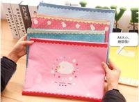 bag information - Cute Lamb Oxford Oxford A4 Zipper Bag Korea Stationery Cartoon Creative Document Information Paper Binder Folder