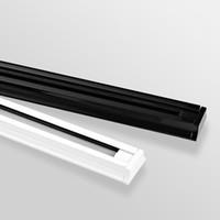 Wholesale LED track light rail m spotlight light track white black meter aluminum with end cap track of light spotlight
