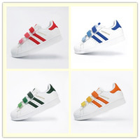 Wholesale Kids superstar casual shoes White Hologram Iridescent Junior Superstars Sneakers Super Star sneakers shoes boys girls outdoor shoes