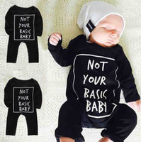 baby clothes basics - fashion boys rompers Newborn Baby Boy Girl Long Sleeve cotton Bodysuit not your basic baby homorous words print Outfit kids Costume Clothes