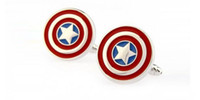 Wholesale superhero captain america cufflinks for men high quality shirt cufflink marvel avengers superhero cuff links