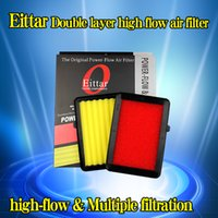 Wholesale Double layer high flow air filter fit HONDA GK5 FIT JAZZ