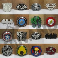 Wholesale Fedex DHL Free New Super Heroes superhero captain America batman Big Belt Buckle Buckles L31
